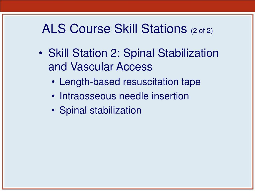 ALS Course Skill Stations