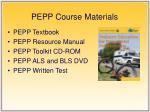 pepp course materials