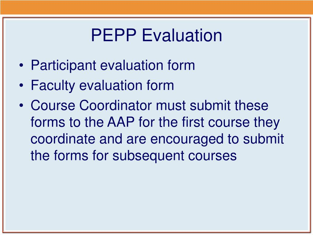PEPP Evaluation