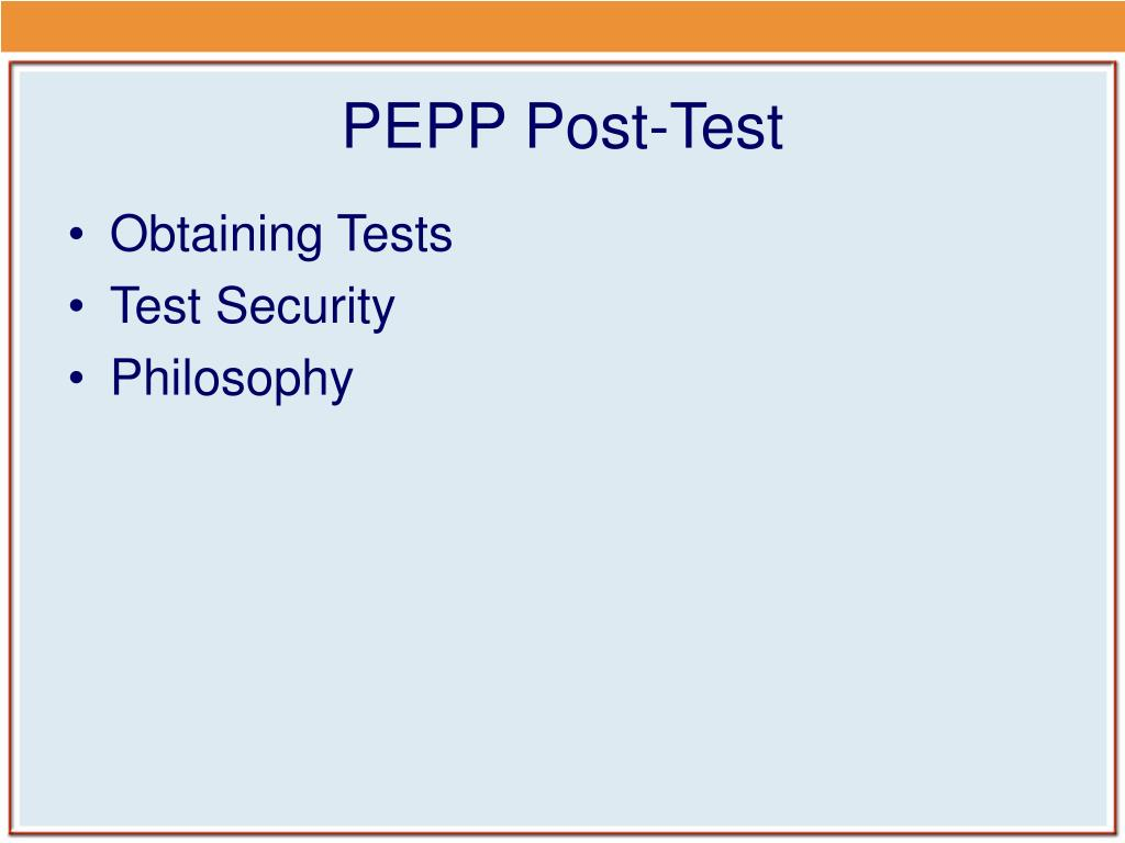 PEPP Post-Test