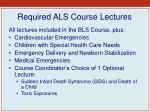 required als course lectures