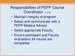 responsibilities of pepp course coordinator 1 of 3