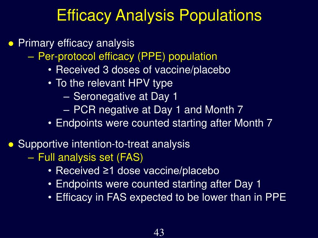 Efficacy Analysis Populations