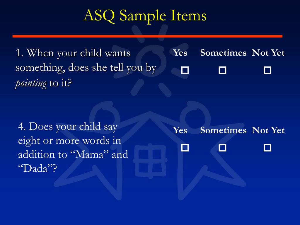 ASQ Sample Items