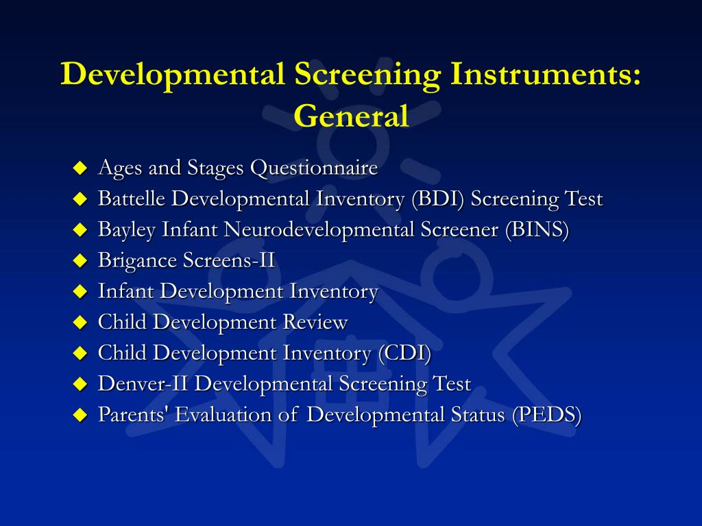 Developmental Screening Instruments: General