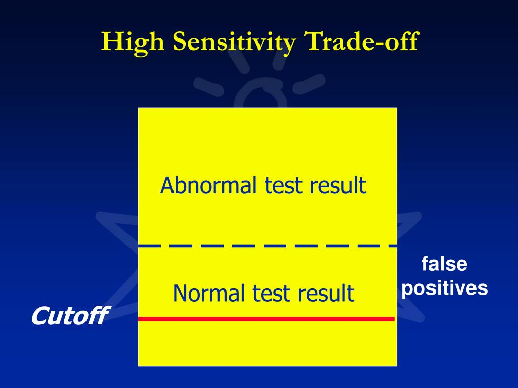 High Sensitivity Trade-off