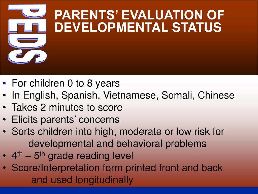 PARENTS' EVALUATION OF