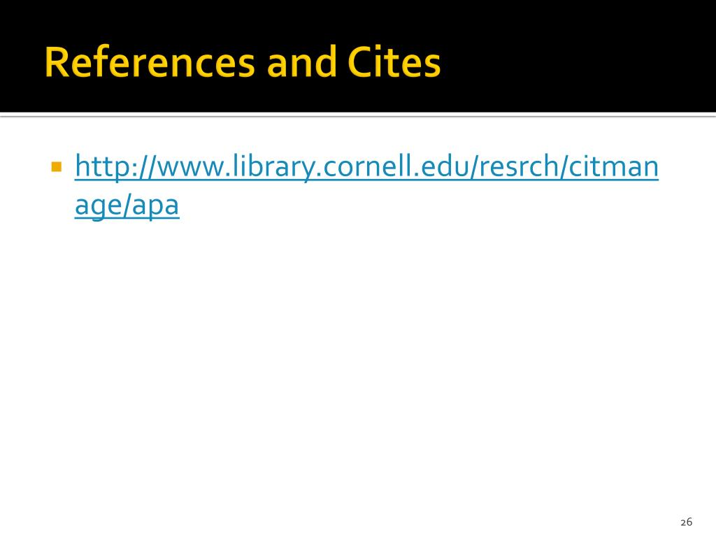 References and Cites