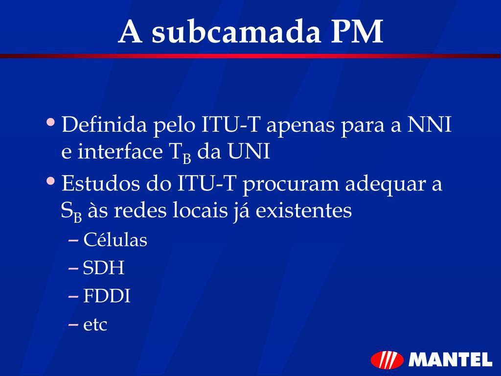 A subcamada PM