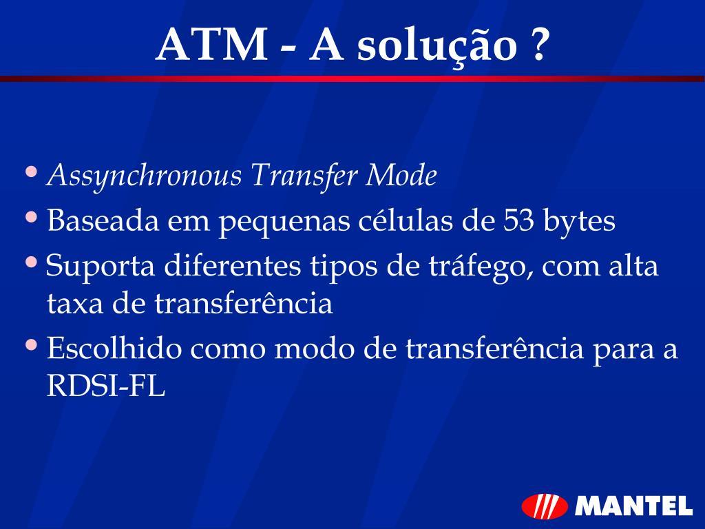 ATM - A solução ?