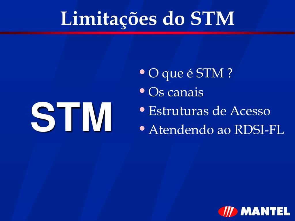 Limitações do STM