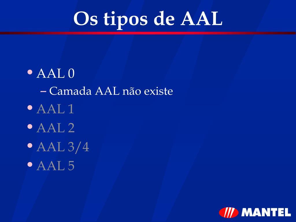 Os tipos de AAL
