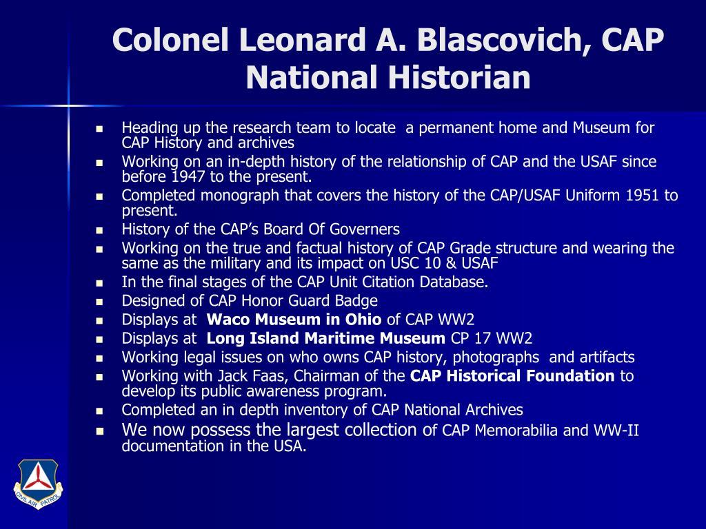 Colonel Leonard A. Blascovich, CAP