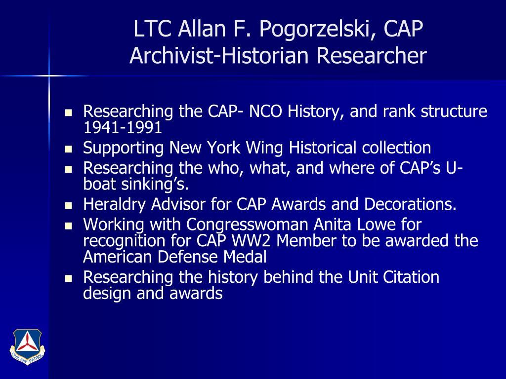LTC Allan F. Pogorzelski, CAP