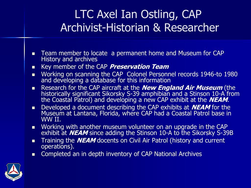 LTC Axel Ian Ostling, CAP