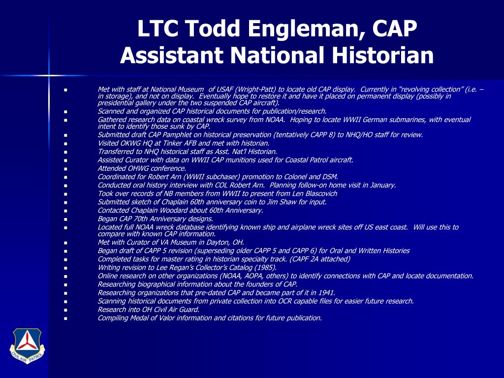 LTC Todd Engleman, CAP
