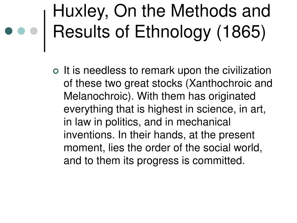 Huxley, On the Methods and Results of Ethnology (1865)