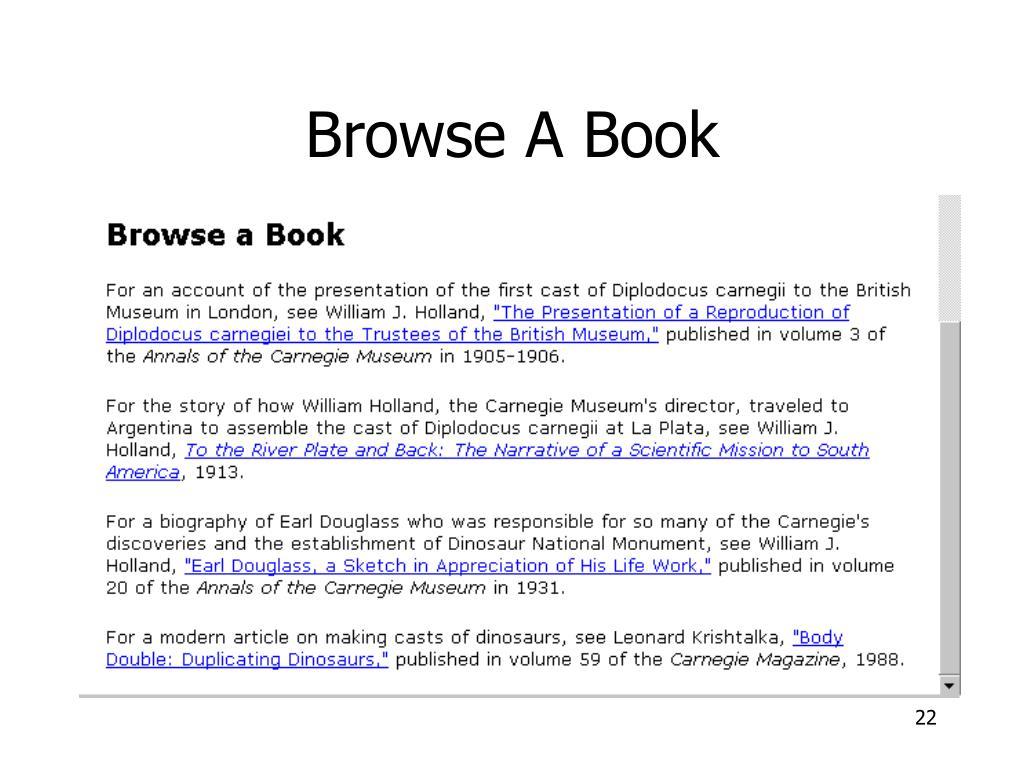 Browse A Book