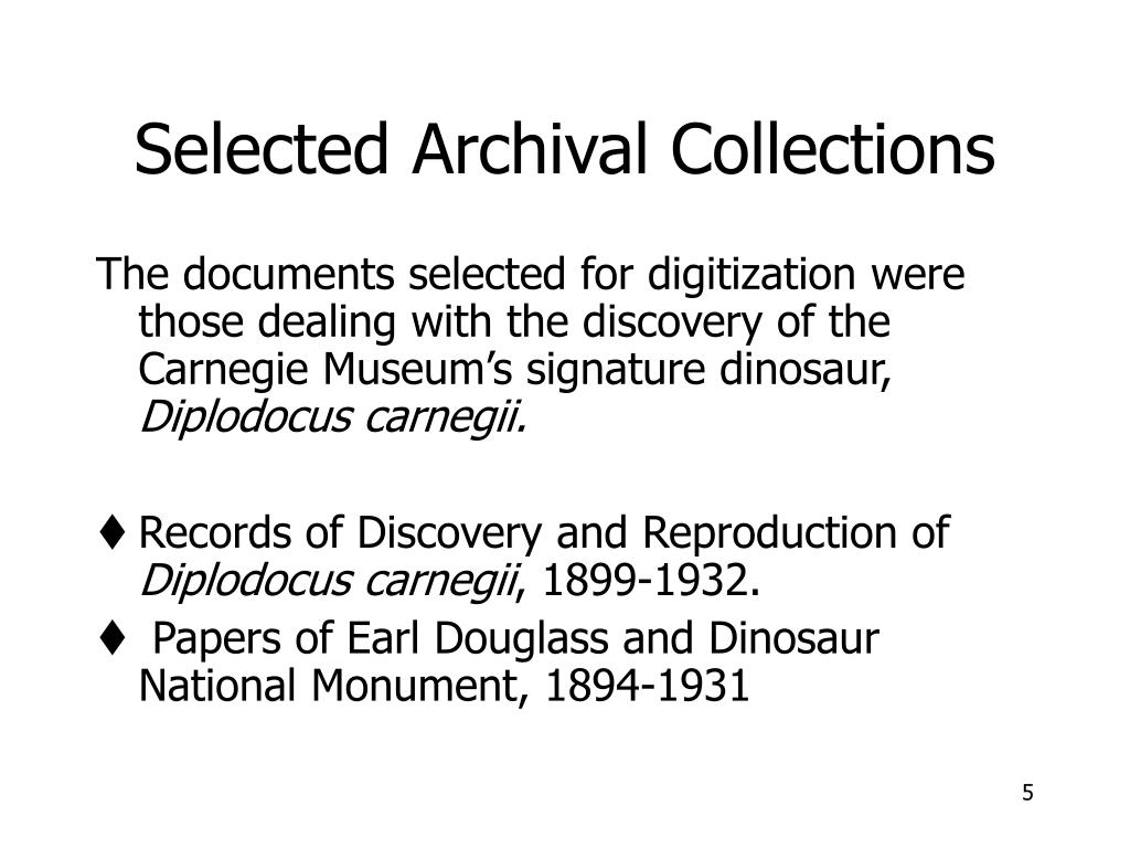 Selected Archival Collections