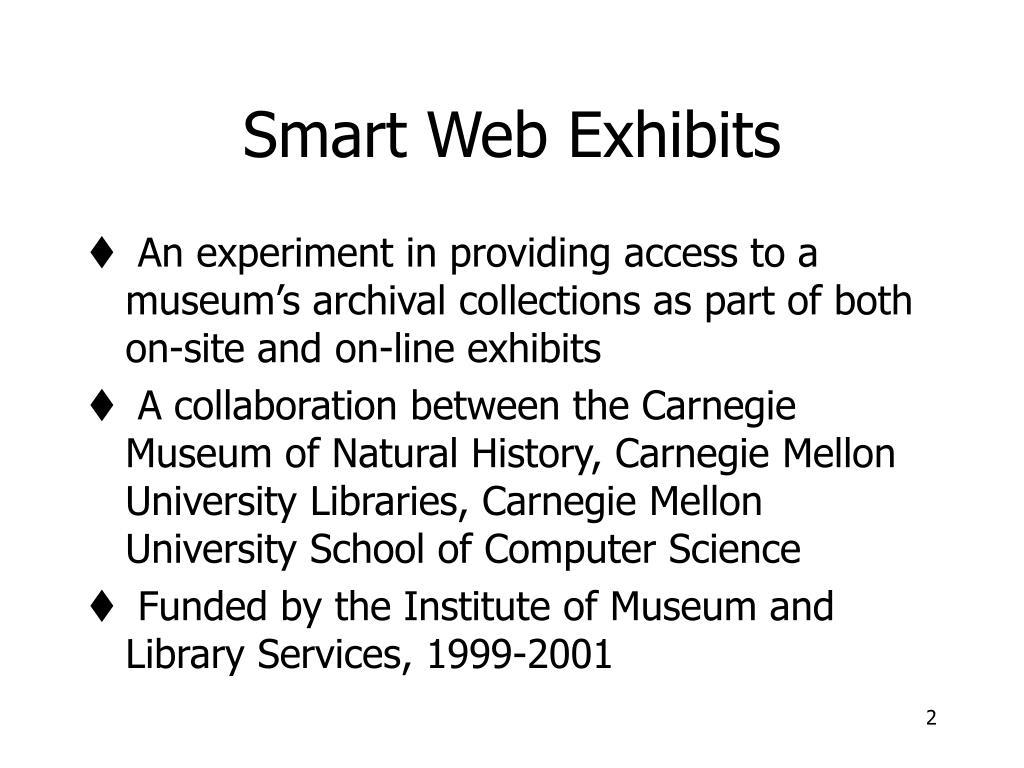Smart Web Exhibits