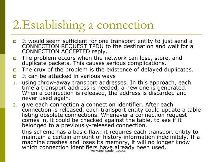 2.Establishing a connection