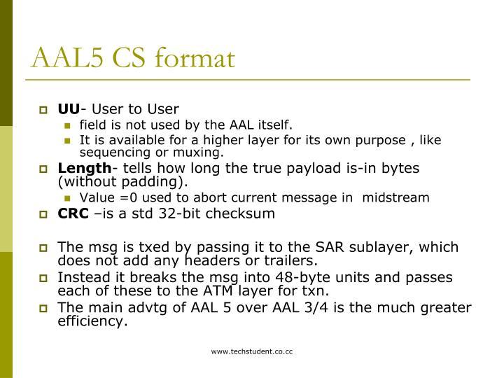AAL5 CS format