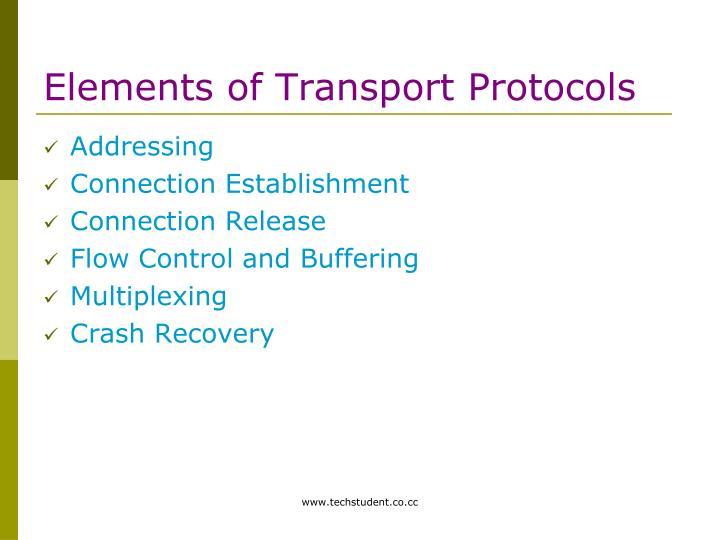 Elements of Transport Protocols