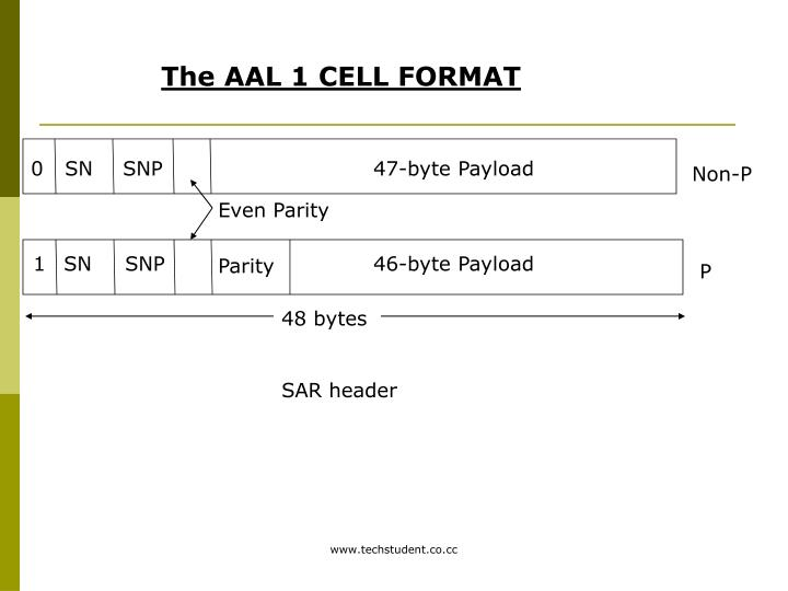 The AAL 1 CELL FORMAT