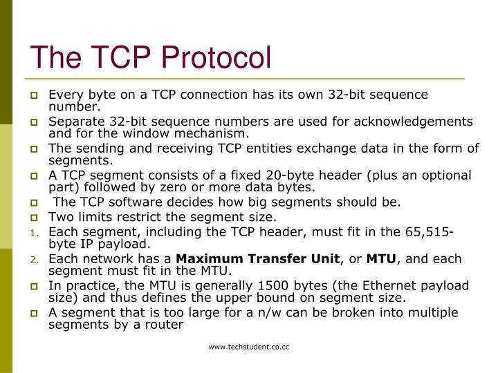 The TCP Protocol