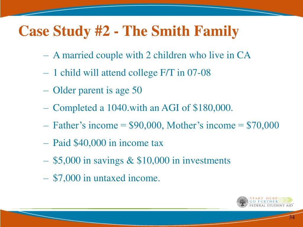 Case Study #2 - The Smith Family