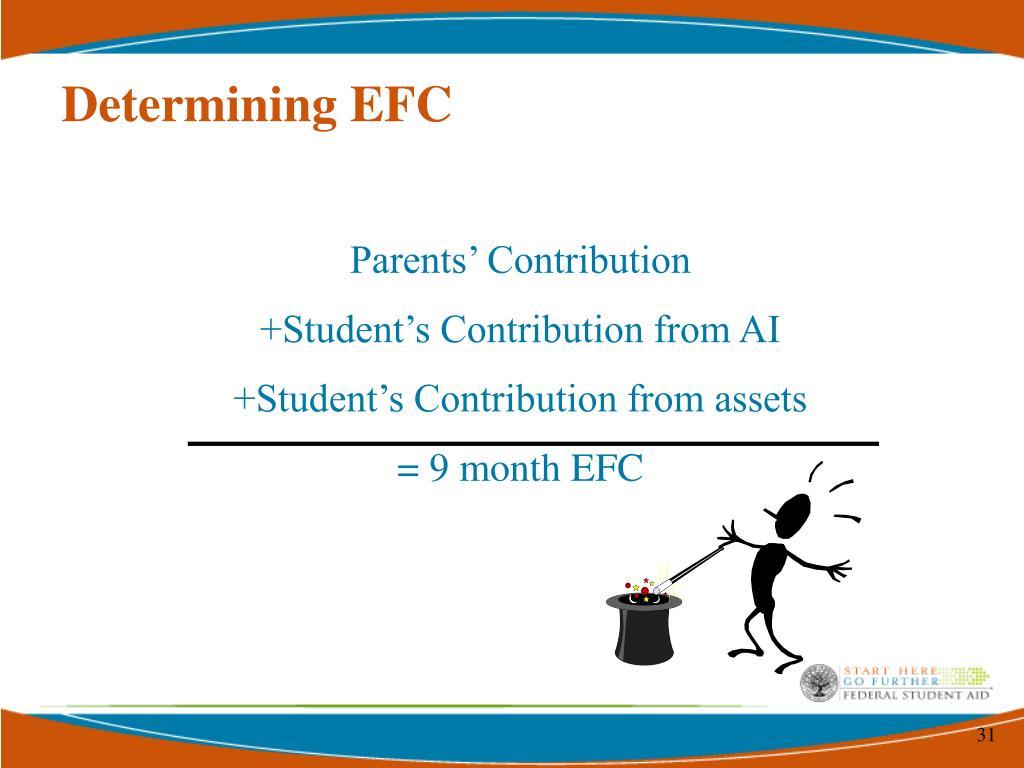Determining EFC