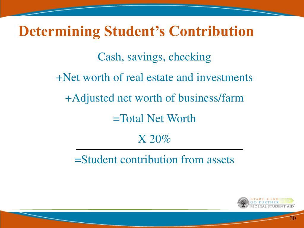 Determining Student's Contribution