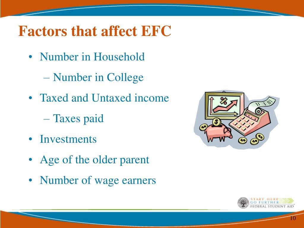 Factors that affect EFC