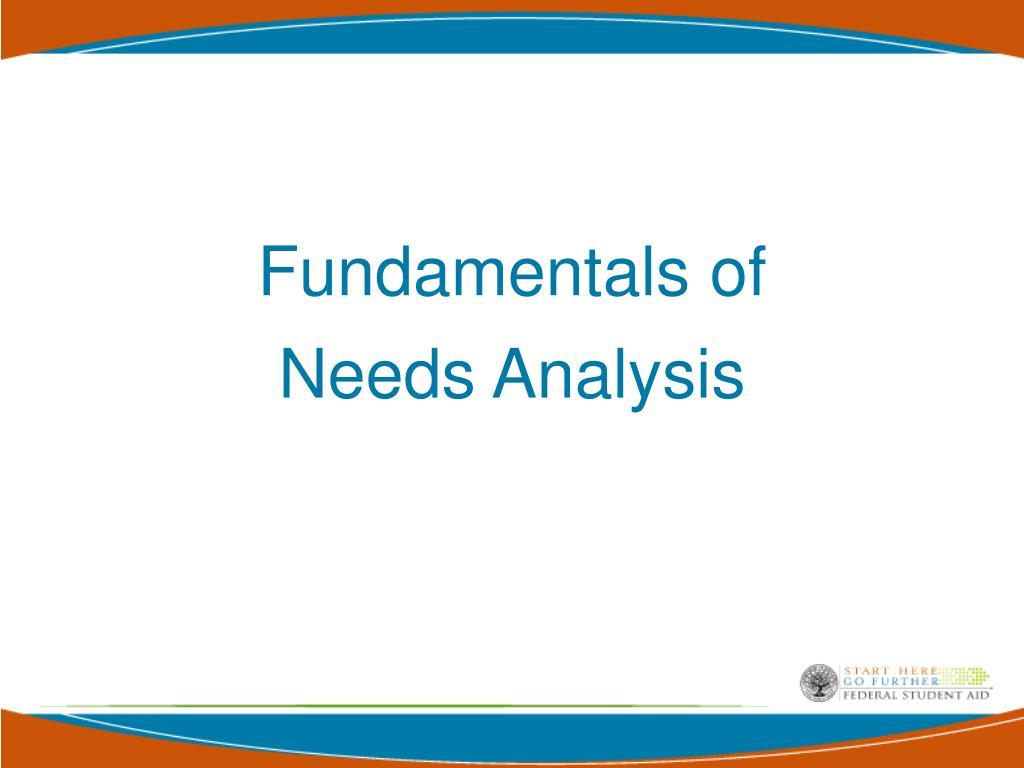 Fundamentals of Needs Analysis