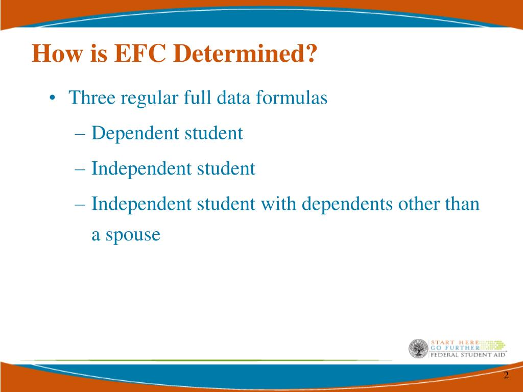 How is EFC Determined?