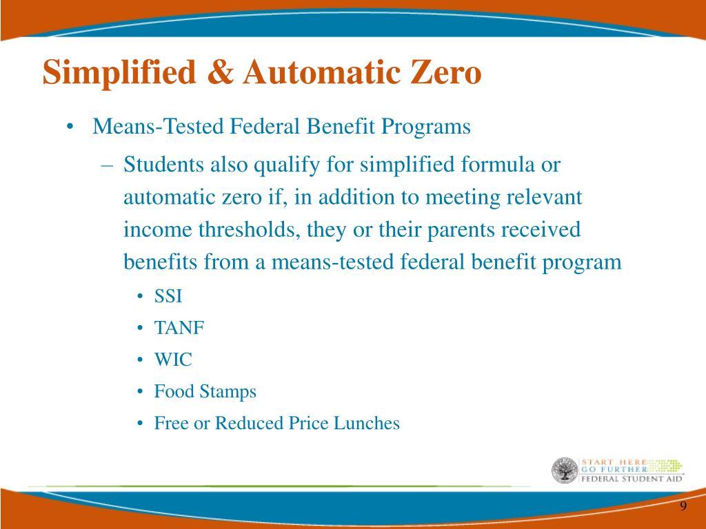 Simplified & Automatic Zero