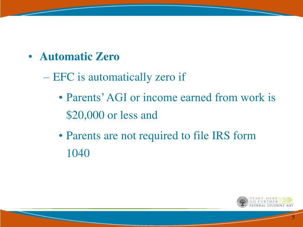 Automatic Zero