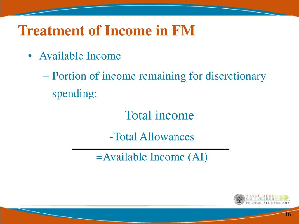 Treatment of Income in FM