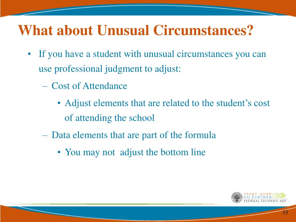 What about Unusual Circumstances?