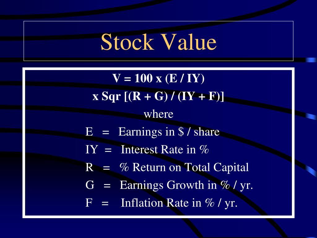 Stock Value