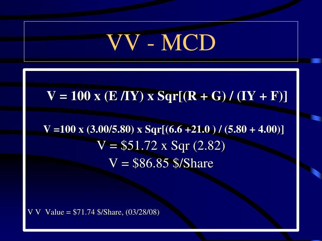 VV - MCD