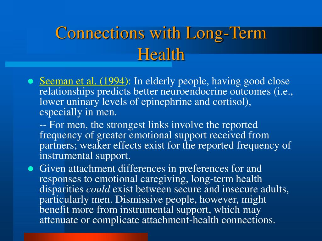 Connections with Long-Term Health