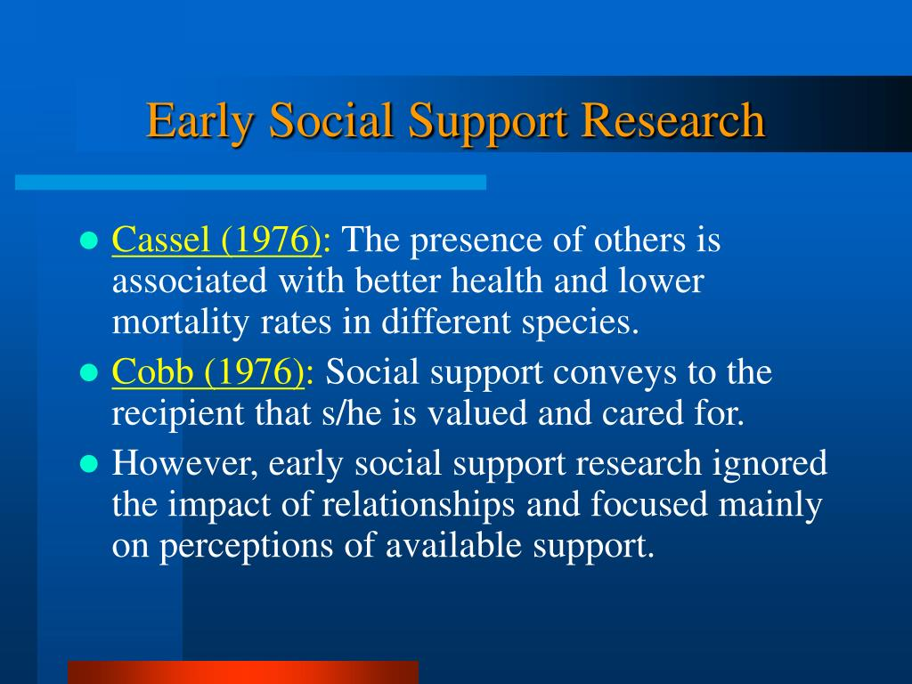 Early Social Support Research