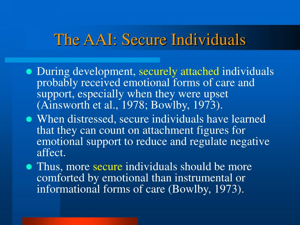 The AAI: Secure Individuals