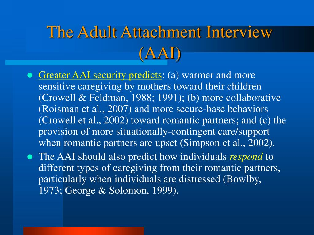 attachment theory the dynamics of long term