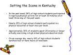 setting the scene in kentucky