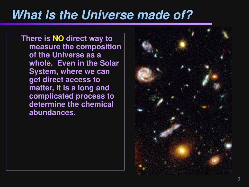 What is the Universe made of?