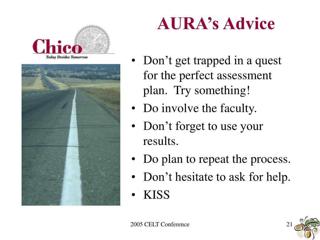 AURA's Advice