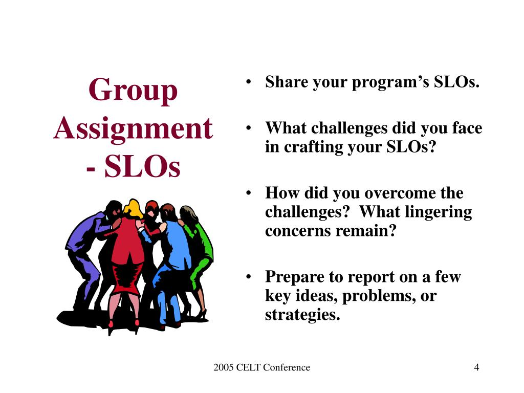Group Assignment - SLOs