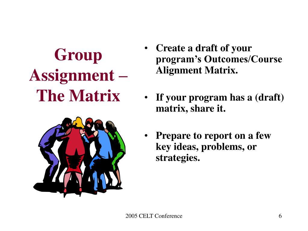 Group Assignment – The Matrix